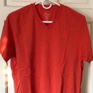 J. Crew v-neck t-shirt in orange